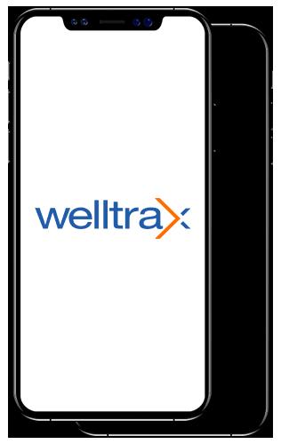 Welltrax Logo on Smartphone